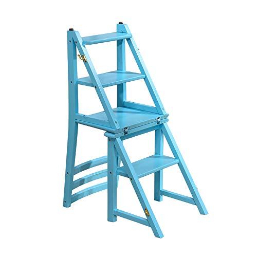 BLWX - Tabouret-Échelle pliante en bois massif pour la maison - Échelle d'escalade à double usage multifonctions/hauteur de 95 cm (38 pouces) pliable Échelle (Couleur : C)