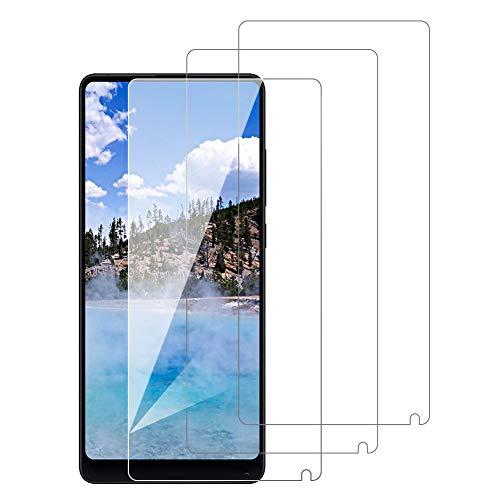 [3 Pack] Amonke Protector Pantalla para Xiaomi Mi Mix 2 Cristal Templado, Plana pero Incompleta Cobertura, 9H Dureza, Compatible con Carcasa, Screen Protector para Xiaomi Mi Mix 2