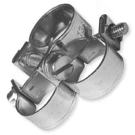 Bradas Blf25 Om1719 Jubilee Colliers de Serrage Mini – 17–19 mm x 9 mm Lot de 10 Argent ; Coeur de Cristal Dimensions : 5 x 5 x 1 cm
