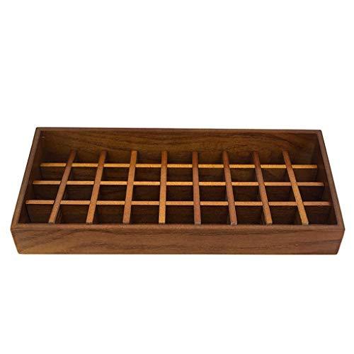 ZXL Boîte de Rangement de Rouge à lèvres en Bois, Grand Bureau, cosmétiques en Bois, Finition 3 Styles (Couleur: A)