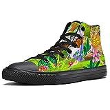 LORVIES - Zapatillas de deporte con diseño de hadas y flores, (multicolor), 37 EU