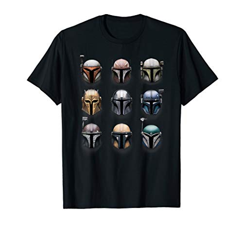 Star Wars The Mandalorian Battle Worn Helmets T-Shirt