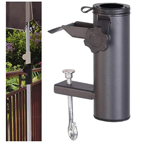 GEEZY Metall Balkonschirm Halter Klemme Schirmhalter Zaun Sonnenschirmklemme 33-38mm