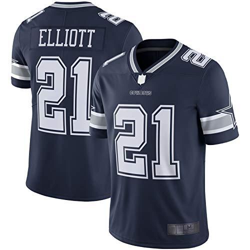XIANYI Navy - Sports Elliott American Football Trikot Dallas Rugby Trikot Ezekiel Kurzarm #21 Vapor Limited Jersey L navy