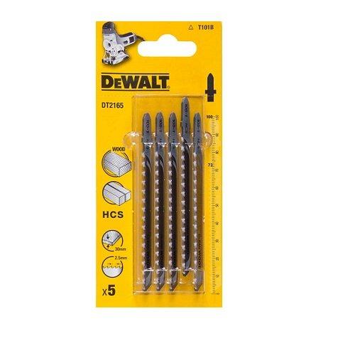 Preisvergleich Produktbild DeWALT 5er Pack Holzstichsägeblätter DT2165 HCS - Kohlenstahl 100-73mm T101B