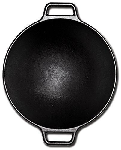 Lodge P14W3 Pro-Logic Cast Iron Wok, 14-inch, Black
