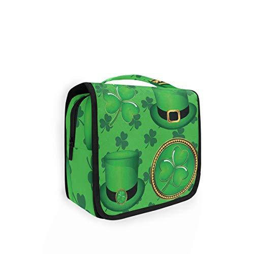 Rulyy Kulturtasche zum Aufhängen St. Patrick Day Kleeblatt Hut Kosmetik Waschtasche große Kapazität Organizer für Reisen Make-up Tasche für Mädchen Frauen Damen