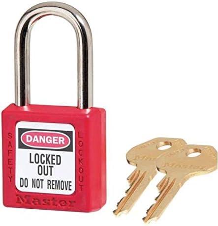 Master Lock 410RED2KEY No. Max 46% OFF 410 Red 2 Loc Zenex Key Luxury goods Padlock Per