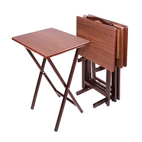 Pearington PEAR-29-24056 Folding TV Dining, Laptop Computer Stand, Gaming, Desk-4 Piece, Espresso...