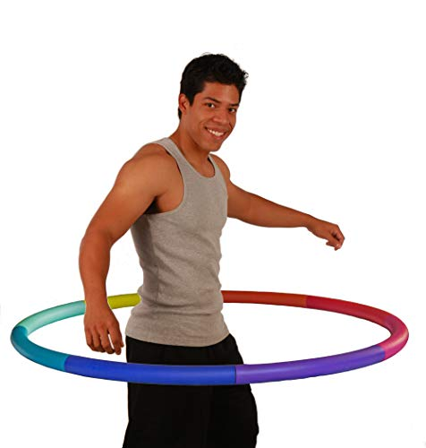 Sports Hoop Weighted Hoop Weight Loss Trim Hoop 4B  39lb 41 inches Wide Large Weighted Fitness Exercise Hula Hoop with No Wavy Ridges Rainbow