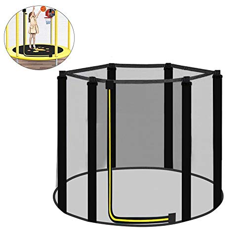 Replacement Trampoline Safety Net Enclosure UV-Resistant Garden Trampoline Replacement Net for 3.97ft/4.59ft/4.92ft 6 Poles Trampolines | Net Only |