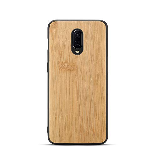 GOGODOG OnePlus 6T Case Full Cover Ultra Thin Matte Anti Slip Scratch Resistant Carbon Fiber Fashion Creativity Anti-Fall Soft Shell for OnePlus6T (Bamboo Grain)