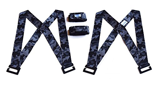 Forearm Forklift FFHVPUC Harness 2-Person Shoulder Lifting and Moving System for Furniture, Appliances, Mattresses or Heavy Objects up to 800 Pounds, Urban Camo Special Edition