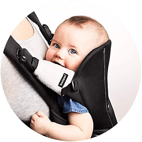BabyBjörn We - Mochila portabebés de algodón con protectores de tirantes, color negro