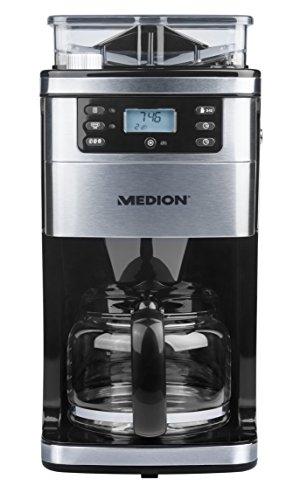Medion MD 15486 Kaffeemaschine mit Mahlwerk und Glaskanne