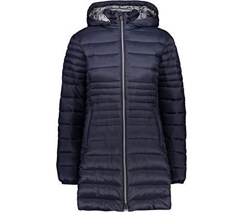 CMP Damen Parka Con Imbottitura 3m Thinsulate Jacke, Schwarz Blau, D40