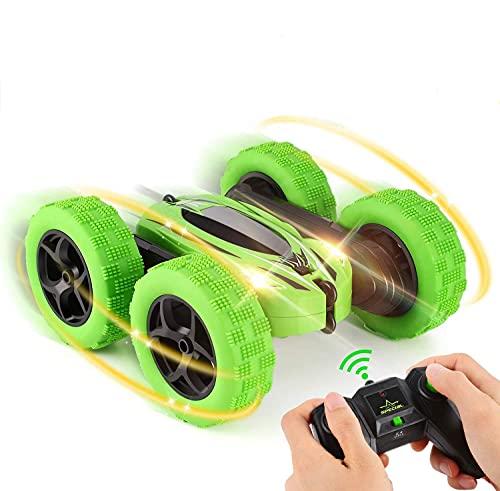 Coche teledirigido OCDAY Recargable RC Stunt Coche de carreras de alta velocidad, radio, cochecito teledirigido para niños, niños y niñas