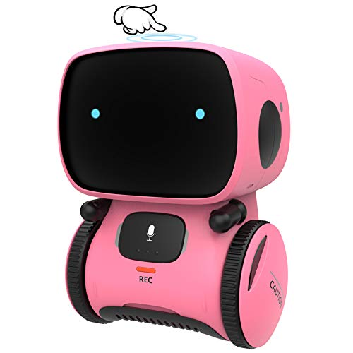 GILOBABY Toy Robot for Girl, Intelligent Smart Robot toy for Girl Boy Kid, Children Interactive Idea Gift Toys Age 3 Years& Plus, Voice Control&Touch Sense ,Dance&Sing&Walk , Recorder&Speak like you