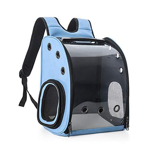 ZBHGF Mochila para Mascota Gato y Perro Mochila para Perros portátil Transportar para pequeño,diseño de cápsula Espacial, para automóvil Compras al Aire Libre,Azul