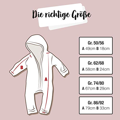 Ehrenkind® WALKOVERALL   Baby Wollwalk-Overalls aus Natur Schurwolle mit Reißverschluss   Walk Wolle Woll-Anzug für Kleinkind und Baby   Blau Gr. 74/80 - 2