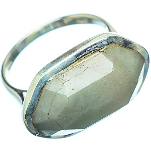 Labradorite, Labradorit 925 Sterling Silber Ring 7.25