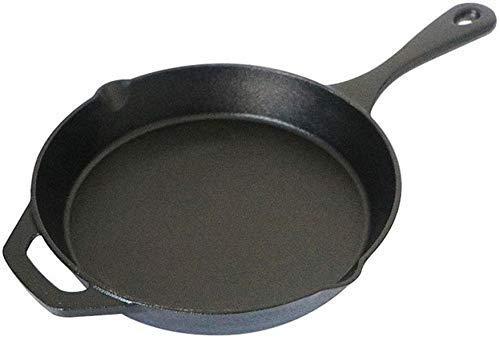 IUYJVR Sartén de Hierro Fundido, Pre-aromatizada, Sartén de 24Cm de Diámetro para Cocinar en Estufa
