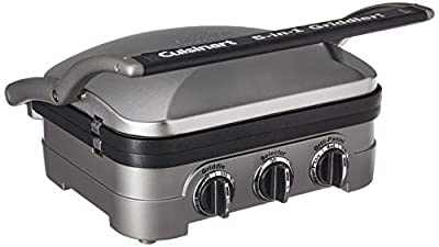 Cuisinart Griddler Gourmet, 5 Functions in 1 Unit: Contact Grill, Panini Press, Full Grill, Full Griddle, and Half Grill/Half Griddle