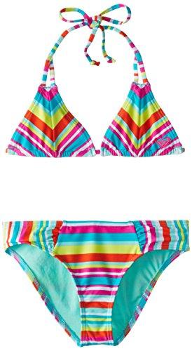 Roxy Girls' Big Surf's Up Tiki Set, Turquoise, XX-Large/16