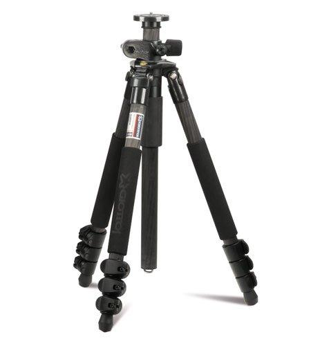 Giottos GTMTL8350B Professionelles Karbon Stativ (1,6 kg Gewicht, 5 kg max. Belastbarkeit, 162 cm. max. Auszugshöhe) schwarz