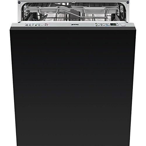 Smeg vollständig integriertes st332l 13places A + + + Spülmaschine–Geschirrspülmaschinen (komplett integriert, Edelstahl, Knöpfe, 13Sitzer, 44dB, 70°C)
