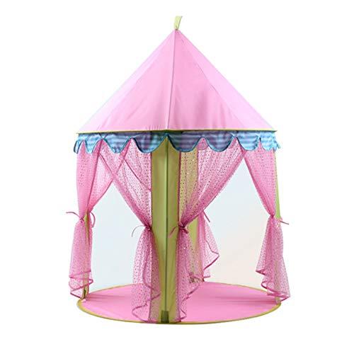 Goodvk Tienda Infantil Tienda Infantil portátil Niños Pink Princess Castle para niñas Niño Play Casa Tiendas de campaña Regalos para Niños (Color : Pink, Size : 105×135 cm)