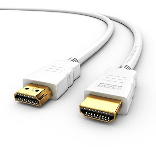 Sentivus HDMI Kabel 1,5m (High Speed with Ethernet, Full HD, ARC, 3D, CEC, 2-Fach geschirmt) - weiß