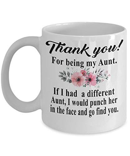 N\A Gracias por ser mi tía - tía, tía Regalo de Sobrina Taza de café, Divertido, Taza, té, Regalo para Navidad, día del Padre, Navidad, papá, Aniversario, día de la Madre, papá, corazón, Santa