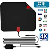【2019 Upgraded】 HDTV Antenna, Gr8ware HD Digital Indoor Amplifier TV Antenna 50-100 Miles Range with Amplifier Signal Booster Support 4K 1080P UHF VHF Freeview Channels