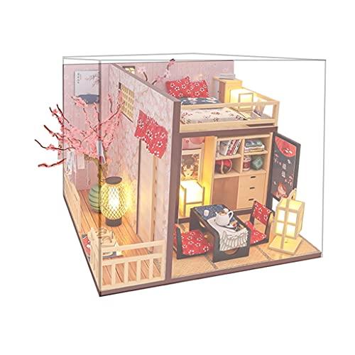 lahomia Casa de Muñecas en Miniatura con Muebles Casas de Muñecas de Madera Creativas
