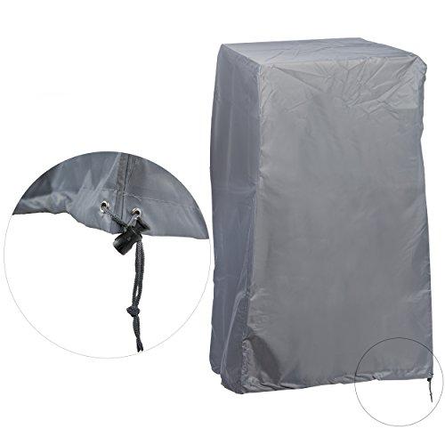 KROLLMANN Schutzhülle für Stapelstühle, Abdeckung für Gartenmöbel in Grau aus Polyester, Abdeckplane für Gartenstühle Outdoor