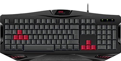 Speedlink Gamer Tastatur für PC / Computer - Iovia Gaming Keyboard (Austauschbare Gaming-Tasten - Rutschfeste Gummifüße - Höhenverstellung für optimale Ergonomie) 1,7m Kabellänge schwarz