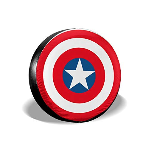 Danty Captain America Marvel Avengers Universal Spare Tire Cover Waterproof for Rv SUV Jeep Truck Trailer Camper 14 Inch