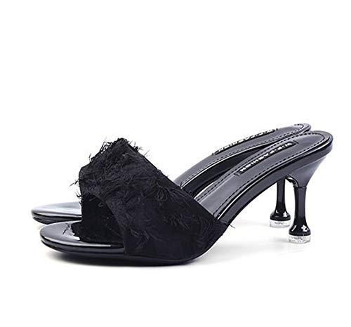 Yhjmdp Zapatillas de Verano para Mujer, Zapatos de Boda para Novia, Zapatillas...