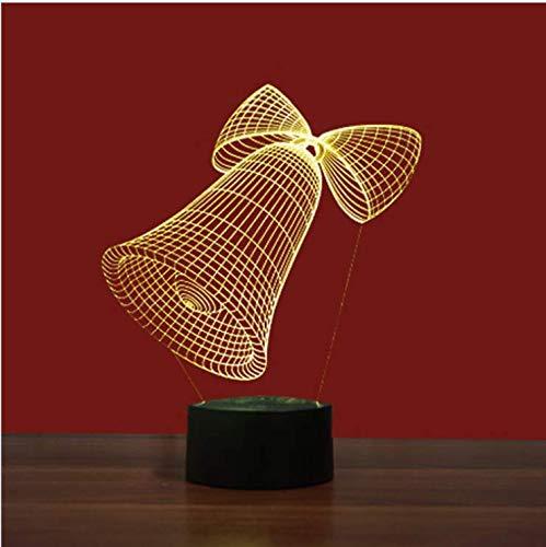 Bedoo Led 3D Ilusión Luz de Noche Inteligente LED Mesa Estudio Lámpara Hogar Acrílico Regulable Decoración
