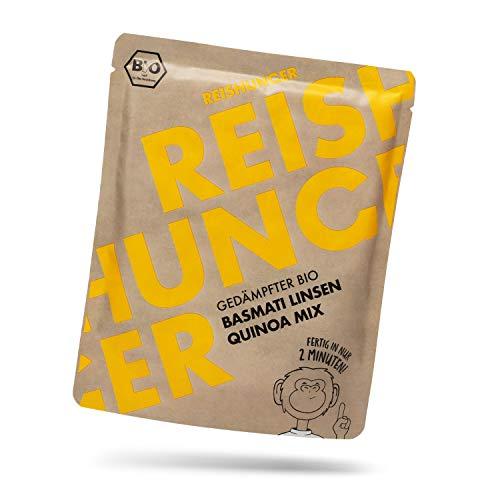 Reishunger BIO Gedämpfter Mikrowellen Basmati Linsen Quinoa Mix (250g) - Auch in 6 x 250g und 12 x 250g verfügbar - Fertig in 2 Minuten - Vegan, Glutenfrei & 100% Sortenrein