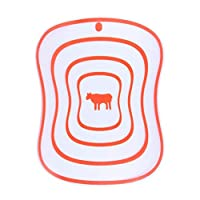 柔軟なプラスチックまな板、キッチンカッティングボードマットは、食器洗い機は、肉野菜用食品ボードをぶら下げ (Color : Pink, サイズ : 40cm)