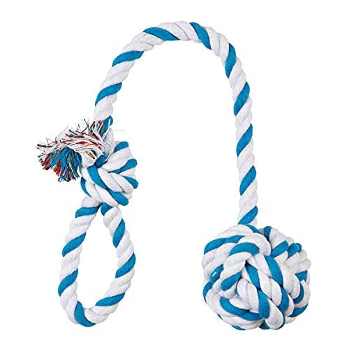 TRIXIE Cuerda de Juego con Bola, ø7 cm, 50 cm, Perro ✅