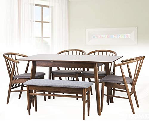 Dining Room Set of 6: 4 Table Extendable Bench Kitch Chairs Toby High material Deluxe