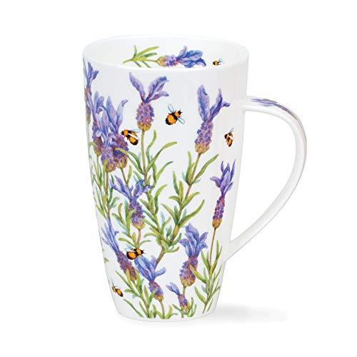 Dunoon - Taza de porcelana fina (600 ml), diseño de Lavenders and Bee's