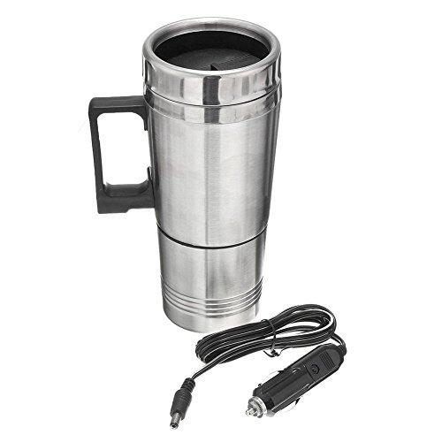ACAMPTAR 12V 300ml Draagbaar in de auto koffiezetapparaat theepot voertuig thermoskan verwarming kopje deksel