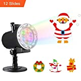 Halloween Christmas Projector Lights,Oittm 12 Slide Patterns High Brightness LED Landscape Lights...