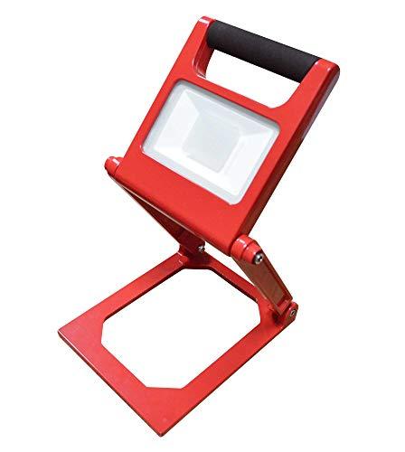Solea-LED 135010-001 Klappbarer und aufladbarer LED Strahler, Rot