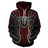 Toysskyr adolescentes sudadera con capucha 3D impresión digital Spiderman patrón juventud traje para hombre jersey primavera moda Jumper sudadera alta elasticidad