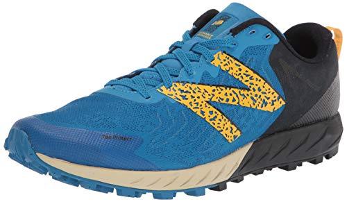 New Balance Men's Summit Unknown V2 Trail Running Shoe, NEO Classic Blue/Varsity Gold, 7.5 2E US